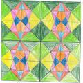 The 5/6 class were looking at Islamic art and patterns and had a go at creating their own.