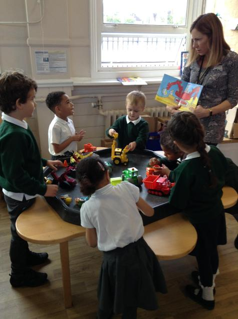Exploring sounds in stories using the story tray