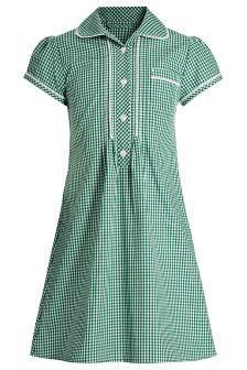 Green/ white dress