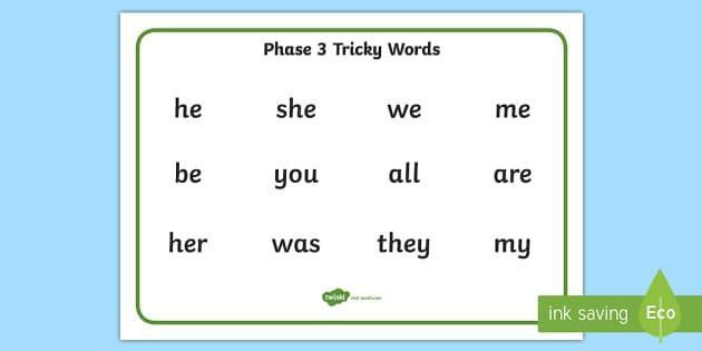 Ask your child to read these words and use them in a sentence!