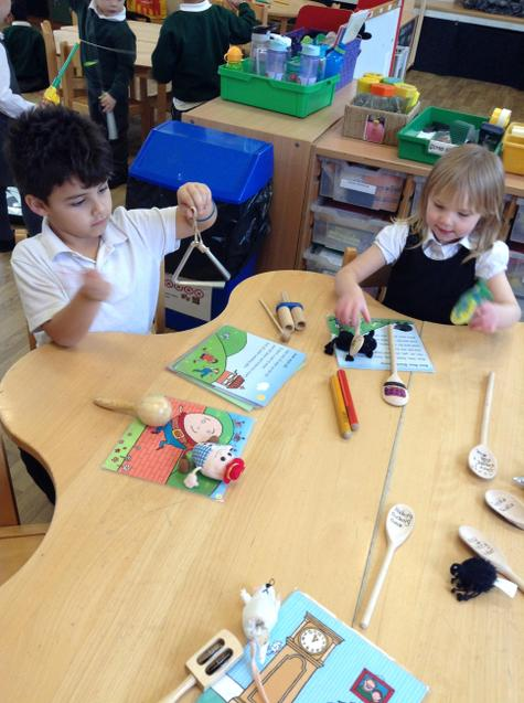 playing instruments to nursery rhyme