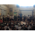 Years 5 & 6 performed to the rest of the school!