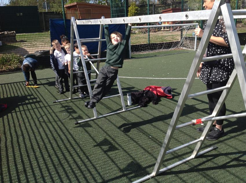 Developing the muscles in our arms.