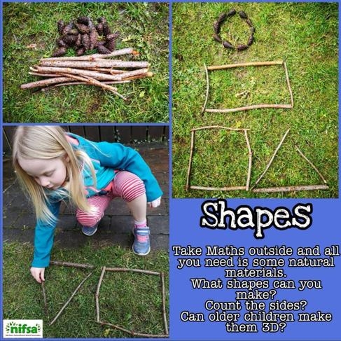 If you can't find twigs, use stones, leaves, etc.