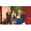 Angela McMenemy receiving Quality Mark Award.