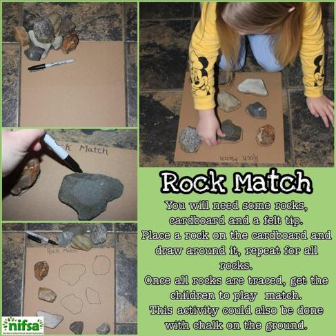 If you can't find rocks, use stones, twigs, leaves etc.