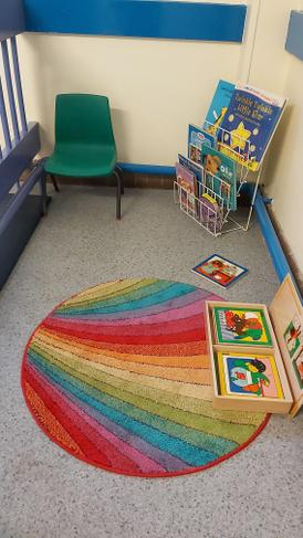 Our quiet reading zone outside the classroom