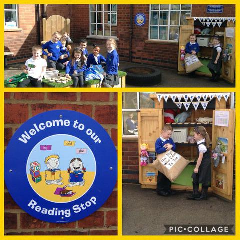Enjoying the Reading Shed at Playtimes