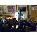 Peter from the Air Ambulance visited Year 1