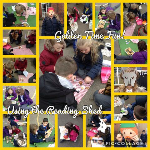 Using the Reading Shed during Golden Time