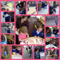 Owl Class enjoying Mother's Day activities