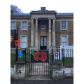 Raunds Park Poppy on gates of the Town Council
