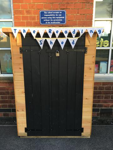 The new Reading Shed in our Playground