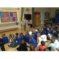 Ginny speaking about Friendship in Assembly