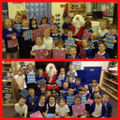 Father Christmas visits Reception