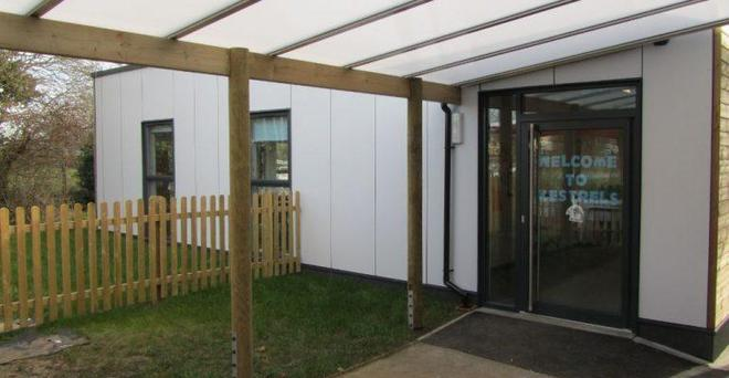 New Covered area for Swallows Years 1 & 2 Class