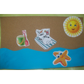 Sand Paper Beach Picture - Art Room Activity
