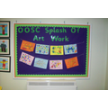 Splash of Art Work, Art Room Display Board Jan 16