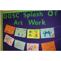 Spash of Art Work, Art Room Display Board Jan 16