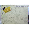 Class of 2015 Out of School Club - Message Board