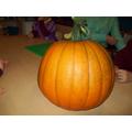 Mr Woodall gave us a pumpkin