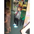Check out my flashing shoes!!