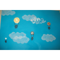 Hot Air Balloon with Buttons - Art Room Activity