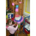 Pupils having fun decorating Gina