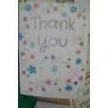 Thank You Card for OOSC Staff