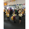 Acting out movement of planets