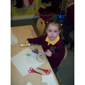 Sticking and making a picture.
