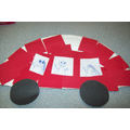 Paper Plate Red Car - Breakfast Club Activity