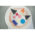Pizza Shape Plate - Art Room Activity