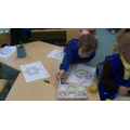 Using lentils and beans to make pictures