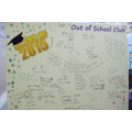 Year 6 Comments Board - Class of 2015 !!
