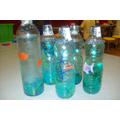 Under the Sea Water Bottles - Art Room Activity