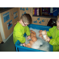 Bathing the babies