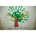 Hands on Father's Day Art Work - Art Room