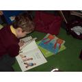 Enjoying reading