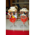 Halloween Cup Cake Glass