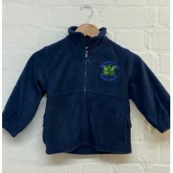 Full zip fleece - school logo £12.95
