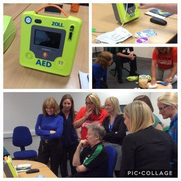 With the help of kind donations and the hard work of the Friends of the School we have now been able to purchase a top of the range defibrillator. Without a defibrillator first aiders would only have about a two per cent chance of resuscitating a person who has suffered a heart attack! With a defibrillator this increases to over seventy per cent! We are so pleased to have this life saving equipment in school for school and local community use. Our machine has a button to adjust settings for children and is fully automated. Ms Thompson and another seven members of staff from across the school have undertaken training to ensure they are confident to use the defibrillator in an emergency. Thank you once again for all your support of the Friends of the School events.