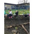 We love having a snack in forest school.