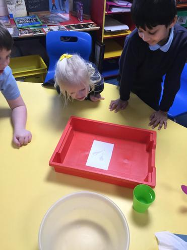 We also tested which material is the most absorbent.
