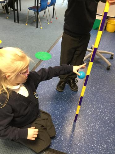 We measured which ball bounce the highest to find out which material was the bounciest.