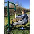 Here are some of our secondary students using our new Outdoor Gym!