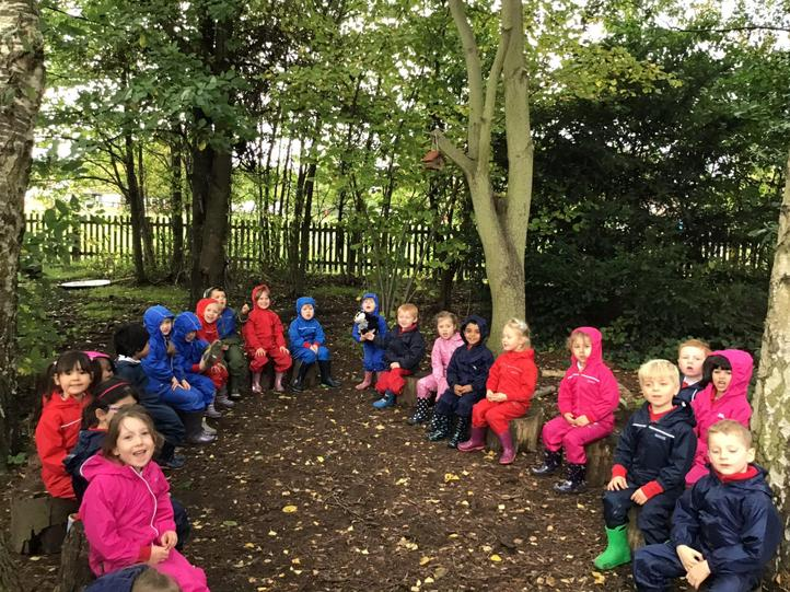 Outdoor learning in our Woodlands area.
