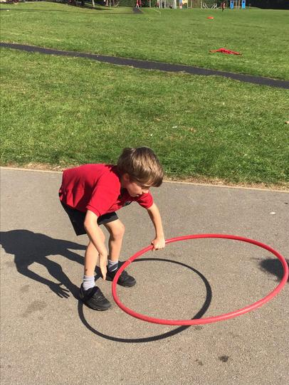 Playing games during outdoor learning