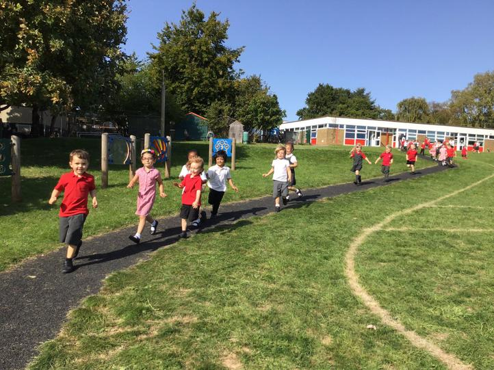 We love doing the Daily Mile!