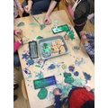 BBS painting their Salt Dough shapes and decorations
